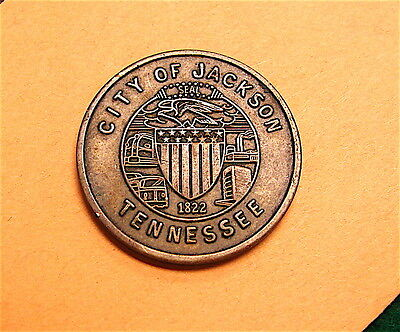 Jackson, Tennessee 5cent Parking Token