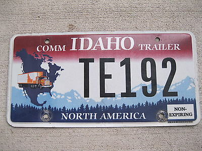 2012 Idaho Commercial Trailer license plate Truck North America Graphic
