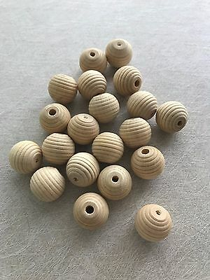 Unfinished Natural Wooden Beads (ROUND)Teething 18 mm Craft/Jewellery