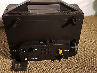 8mm CINE PROJECTOR GAF 1400 DUAL-ZOOM SUPER / STANDARD 8 VINTAGE FILM