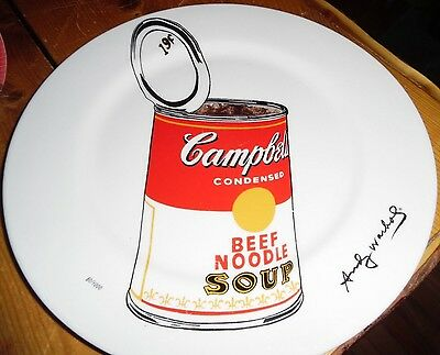 ANDY WARHOL x Block China 12 in. 'Big Campbell's Soup Can, 1962' Plate Ed. 1000