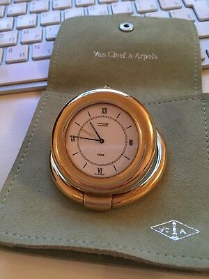 Van Cleef And Arpels Rare Collectable Travel Pocket Alarm Clock Watch