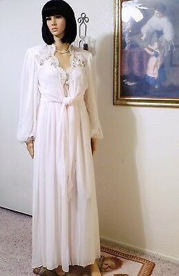 JONQUIL by DIANE SAMANDI vintage BRIDAL Peignoir Set Soft Pink size L large