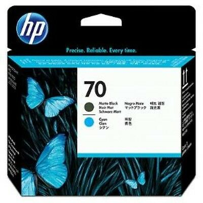 HP 70 Matte Black and Cyan Printhead