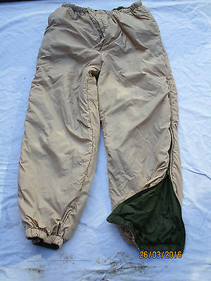 Trousers Thermal Reversible,Olive/Sand, Gr.  MEDIUM  ,Thermo Hose