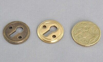KEY HOLE ESCUTCHEON-SUITS JACKSONS CABINET LOCKS-solid brass or antique Br cover