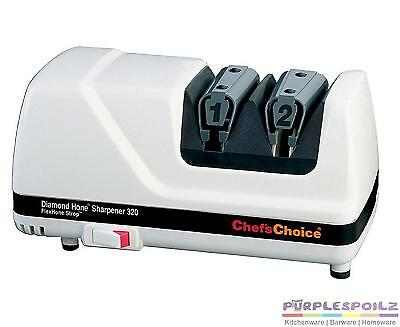 New Chefs Choice Diamond Flexhone Strop Electric Knife Sharpener Model 320