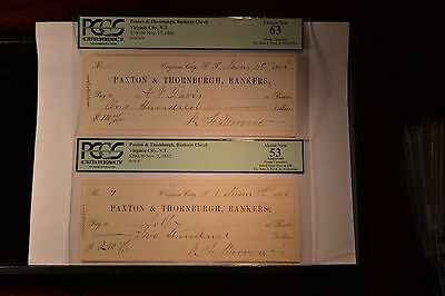 Virginia City, Nevada Territory- R.F. Morrow at Paxton & Thornburgh, PCGS Graded