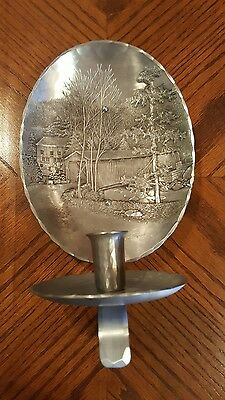 WENDELL AUGUST Aluminum Covered Bridge & Mill Wall Candle Holder Sconce