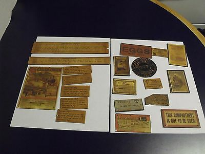 Scrapbook Supplies, Historical Train, 20 pieces