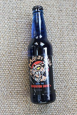 Motley Crue Bottle Of Motley Brue Generation Signed by Nikki Sixx The Final Tour