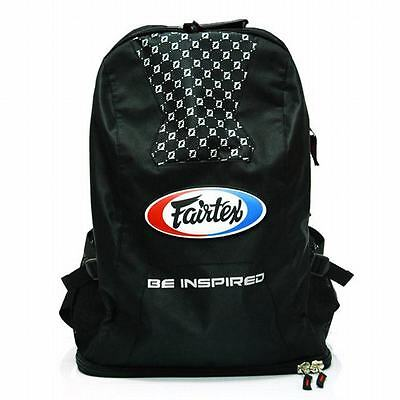 Fairtex BAG4 Sport Black Muay Thai Kick Boxing K1 Equipment Gym Nylon Back pack