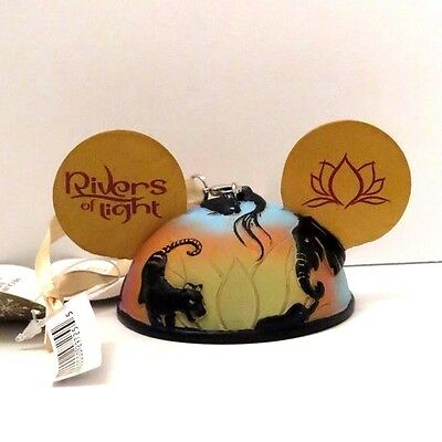 New Disney Parks Animal Kingdom Rivers Of Light Ear Hat Ornament - In Hand!