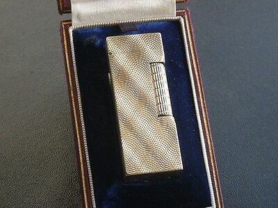 Extremely Rare 1961 9ct Gold Dunhill Hologram Rollagas Lighter - Original Box