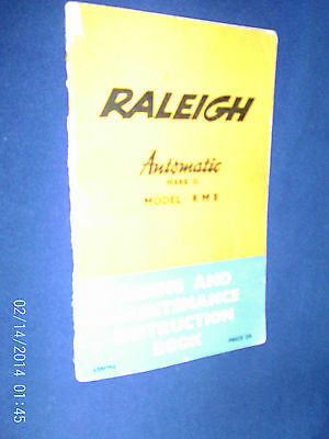 Raleigh Moped Model  Rm8 Instruction Book 1965