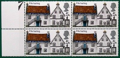 GB 1970 COTTAGES 5d POSITIONAL BLK. 4 var. 'yellow omitted from chimney' UM