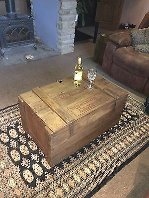 Original and rare Cadbury bournville antique wooden trunk chest coffee table