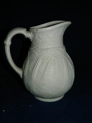 Antique English parian wear jug harvest wheat pattern 1852