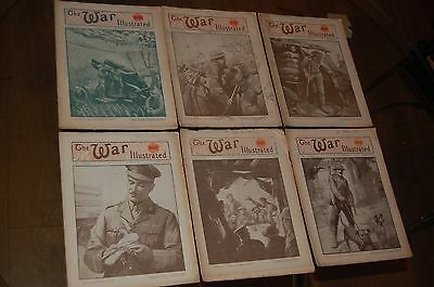The War Illustrated WW1 Great War 6 magazines ~ Vol 8 #184 to #189 ~ 1918