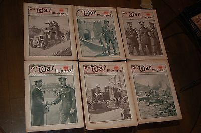 The War Illustrated WW1 Great War 6 magazines ~ Vol 9 #217 to #222 1918 Victory
