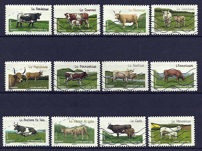 France Stamps - 2014  Complete Set Cows