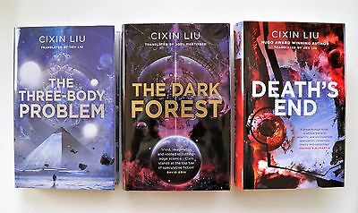 CIXIN LIU ~ THE THREE BODY PROBLEM TRILOGY ~ DOUBLE SIGNED + NUMBERED 1st/1st