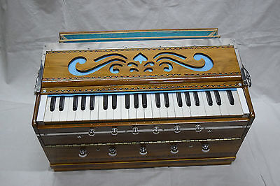 Professional Vertical Harmonium~3 3/4 Octave~Double Reed~Teak Wood Ship Same Day