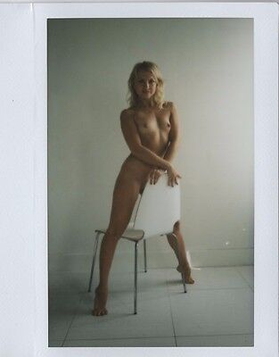 OOAK Original Instax Wide Polaroid Photo - Nude Naked Woman Blonde