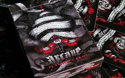 Arcane Red Rare Limited Custom Playing Cards /w Pro Card Clip Ellusionist Magic