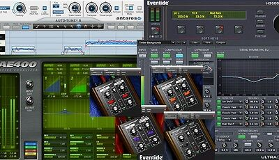 Eventide H3000 & UltraChannel, McDSP AE400, Avid Focusrite d2/d3 & Moogerfooger