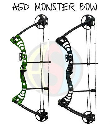 ASD Monster Archery Compound Bow Set Fully Adjustable * * Package **