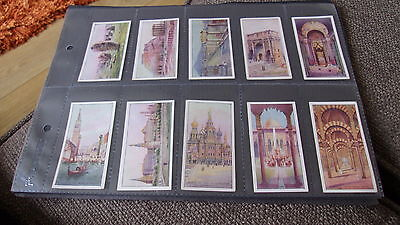 B.a.t. Wonders Of The World - Full Set Cigarette Cards In Plastic Sleeves 1928