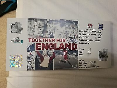 2x 2017 Together For England, England Vs Lithuania, Wembley, 26 March 2017