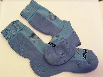 2 PAIRS Ladies 2-3 Season Coolmax Walking socks Blue Siz 4-5 Free Postage!