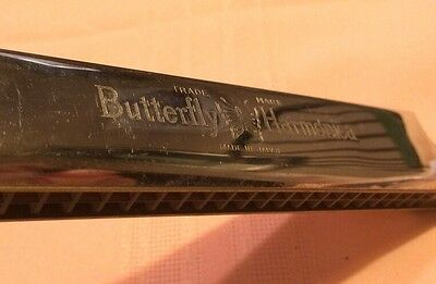 Vintage Virtuoso BUTTERFLY A-440 Harmonica Made In  Japan*