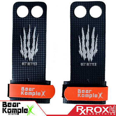 Bear KompleX Carbon Comp Grips | 2 Hole | CrossFit Pull-up Gym Gloves