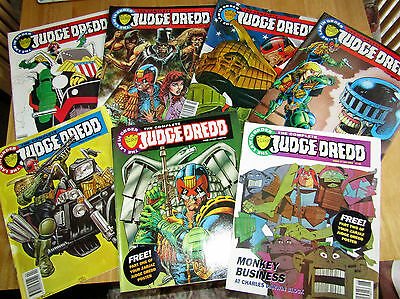 7 x The complete Judge Dredd Magazines/Comics Issues 11 to 17 inc.dated 1992/3