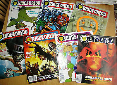 7 x The complete Judge Dredd Magazines/Comics Issues 18 to 24 inc.dated 1993/4