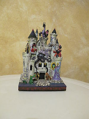 Jim Shore Tower of Fright Disney Traditions Villains Castle Haunted House READ!