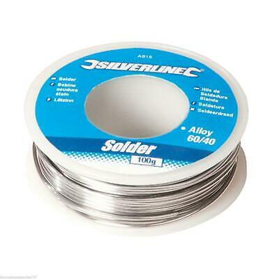 Solder Wire 60/40 Tin Lead For Electrical Hobby Jobs 100g Reel 1mm Fluxed