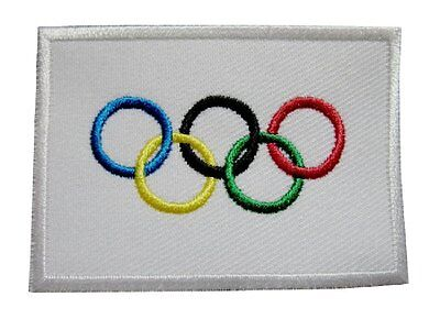 Olympics Patch Embroidered Iron / Sew on Badge Olympic Rings Souvenir Rio 2016