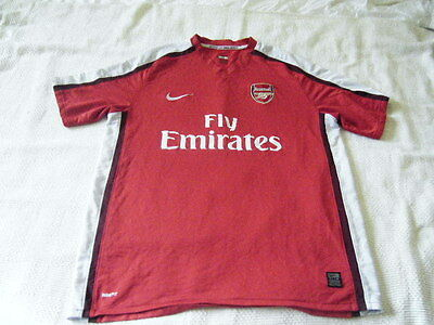 Arsenal Home Jersey Nike 08/10  Red Size Xl Gooners Football Soccer Premiership