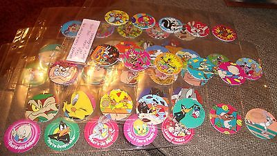 Walkers 1St Series Looney Tunes Tazos Pogs Full Set Of 50 Red Backs 1995-96 Vgc