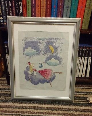 Felicity Wishes Completed Cross stitch Framed