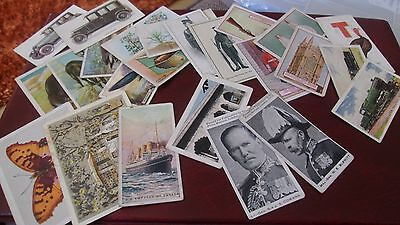 24 x OVERSEAS CIGARETTE CARDS - IMPERIAL TOBACCO, UNITED TOBACCO - SPACE FILLERS