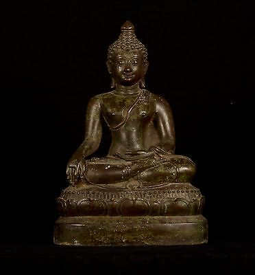19th Century Antique Chiang Saen Enlightenment Buddha Statue - 38cm/15""