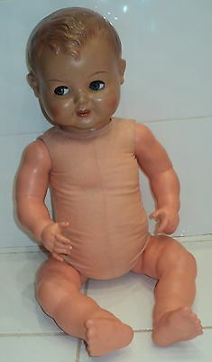 Vintage 1950s USSR Soviet CELLULOID Doll, 480mm (inch 18,9'') with sleep eyes