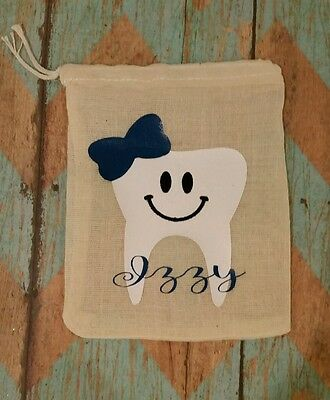 Tooth Fairy Bag/ personalized tooth pouch name boy or girl