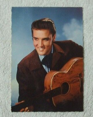 E.D.U.G. (EDUG) Italcolor POSTCARD - ELVIS PRESLEY with Guitar, Made in France