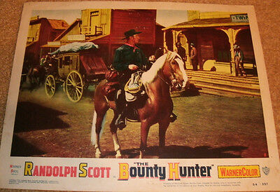 Randolph Scott 'The Bounty Hunter' Lobby Card